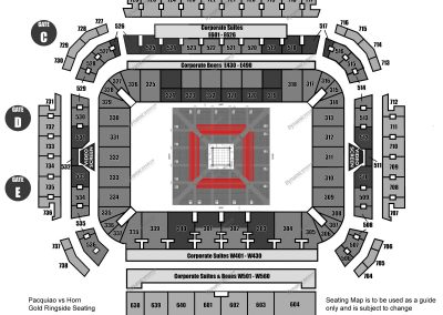 Gold Ringside Seating Map 1