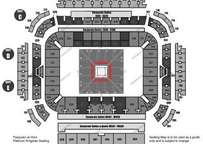 Platinum Ringside Seating Map 1