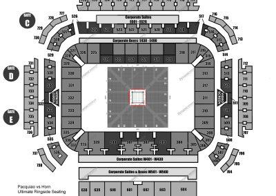 Ultimate Ringside Seating Map