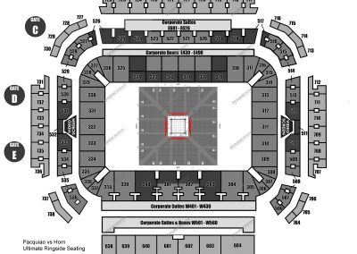 Diamond Ringside Seating Map