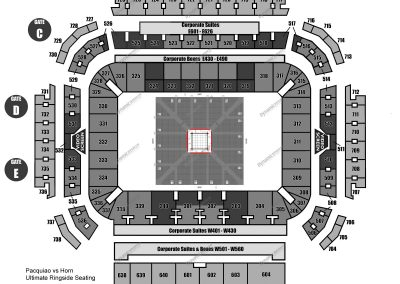 Ultimate Ringside Seating Map
